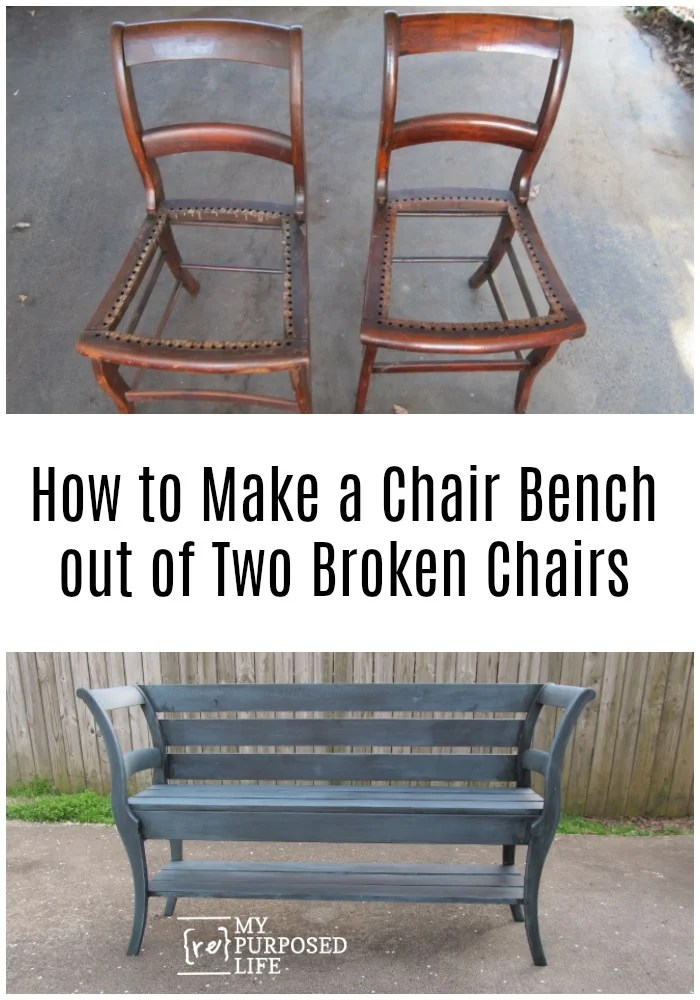 How to NOT Make a Double Chair Bench Seriously, the double chair bench turned out okay in the end, but it was touch and go for awhile. Tips on using two old chairs, and new lumber to make an awesome new bench! #MyRepurposedLife #repurposed #chairs #bench #diy #project via @repurposedlife