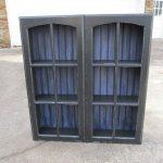 Shelf with Repurposed Cupboard Doors
