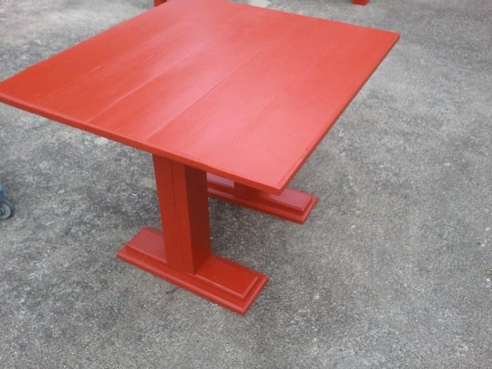 diy kids table for corner bench