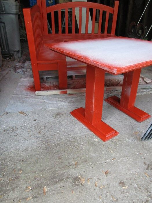 paint sprayer for diy kids table