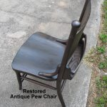 Restoring an Antique Pew Chair