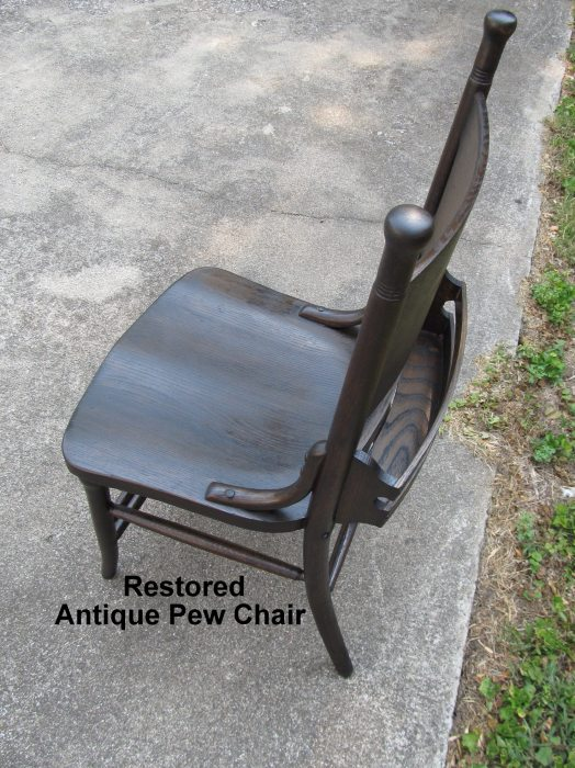 restored antique pew chair