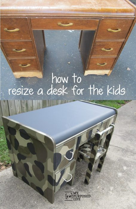 camouflaged kids desk