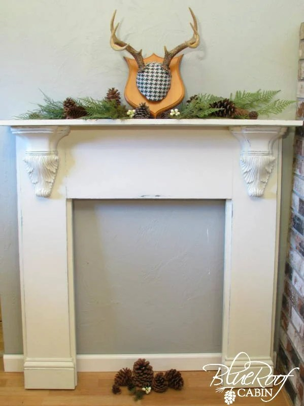 Diy metal mantel