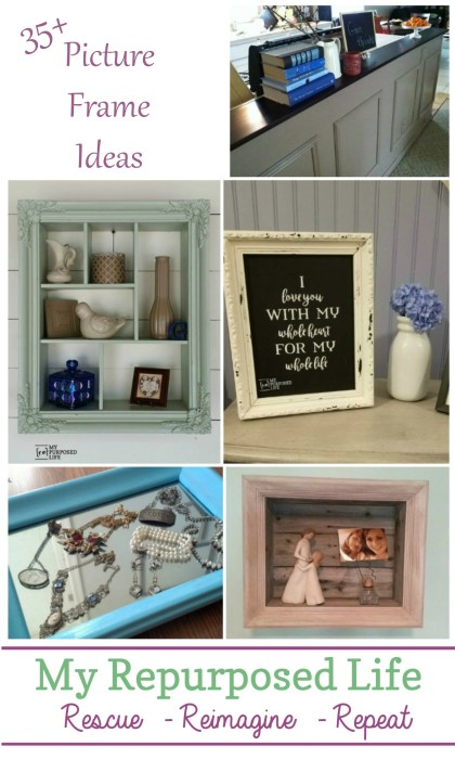 Picture Frame Ideas for Home Decor and More - My Repurposed ...