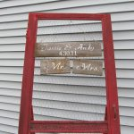 Repurposed Vintage Screen Door