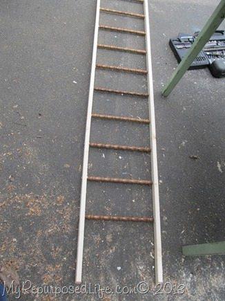 diy faux ladder