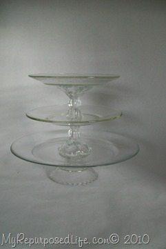 glass dessert plate