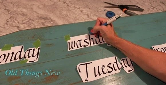 2-How to transfer letters to paint