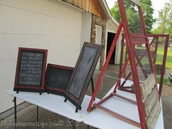 tables and chalkboards