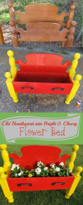 My Repurposed Life-Cheery FlowerBed