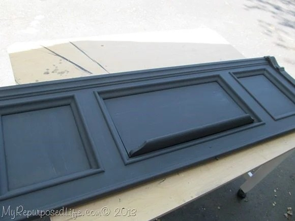 antique piano front DIY chalk paint