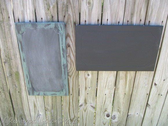 cabinet doors into chalkboards