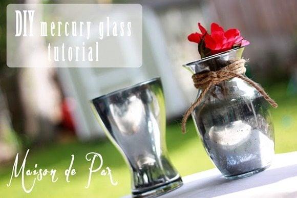 mercury glass vases tutorial