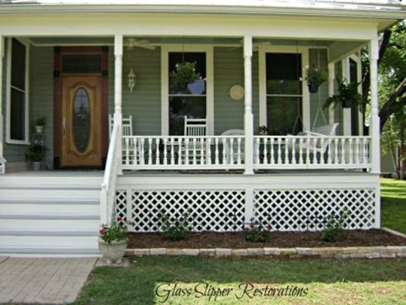 beautiful porch redo