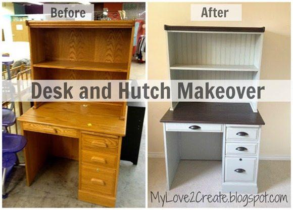 MyLove2Create, desk hutch beforeafter