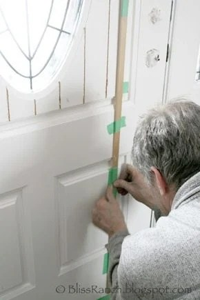 adding a cottage look to a raised panel door