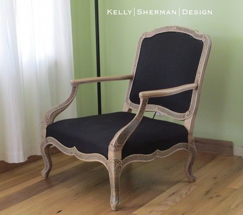 glamorous armchair makeover