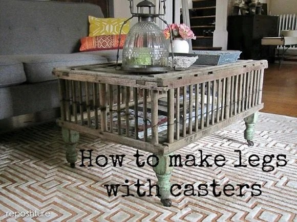 how to add legs & casters to a table
