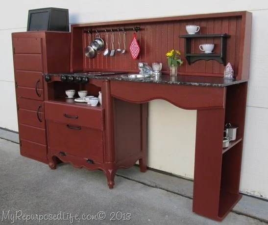 kid's kitchen from nightstand