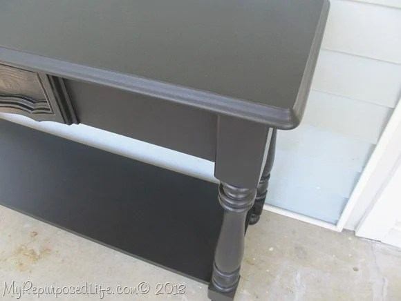 black sofa table smooth finish