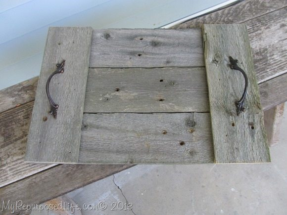 easy rustic tray (fence)