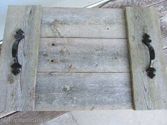 rustic fence trays