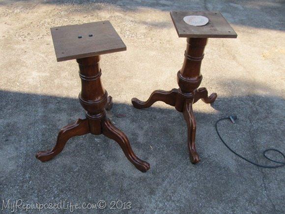 two pedestals