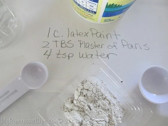 using DIY Chalky paint in a sprayer