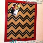 DIY Chevron Bulletin Board from My Personal Accent