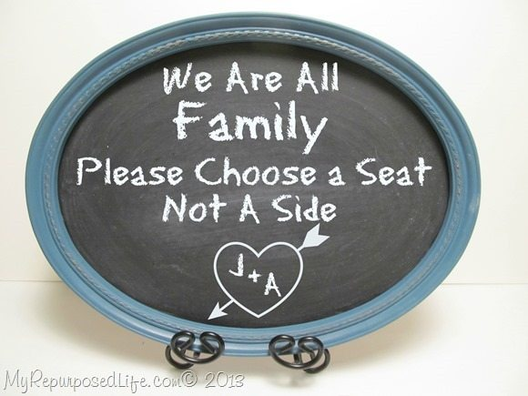 oval framed chalkboard