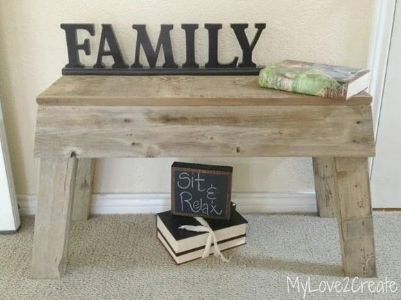 how to make a rustic bench out of reclaimed wood