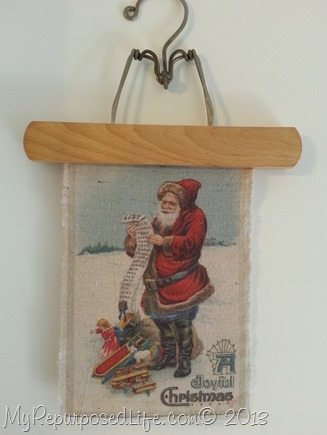 Santa image printed on fabric