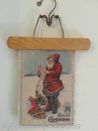 Santa image printed on fabric