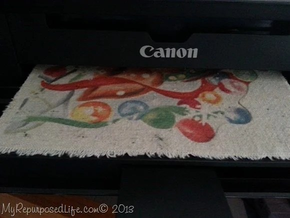 use your Canon printer to print on fabric