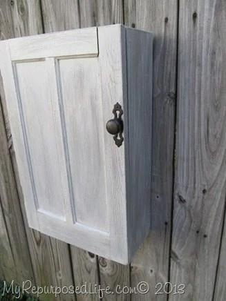 repurposed cupboard door wall cabinet