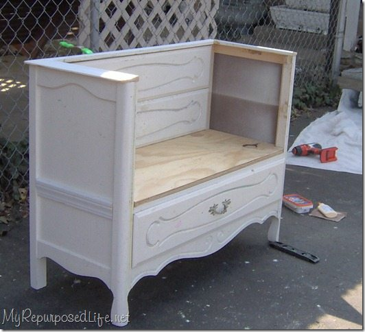 repurposed-dresser-bench-storage
