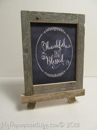 rustic framed Thanksgiving chalkboard printable