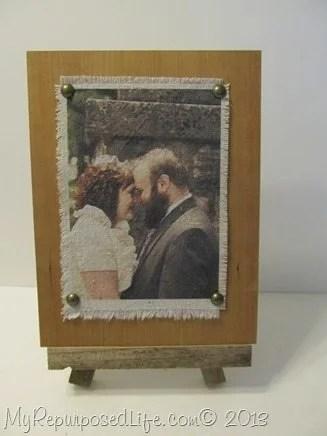 fabric wedding photo