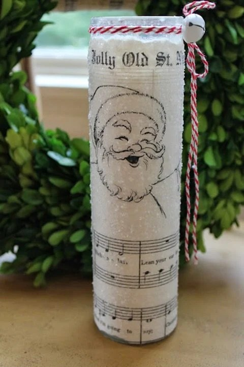 Christmas-dollar-tree-candles-sheet-music