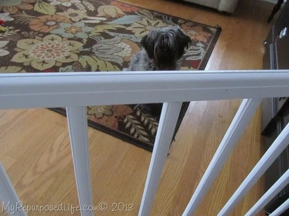 diy doggie gate from crib rails