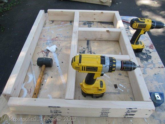 lumber storage bench