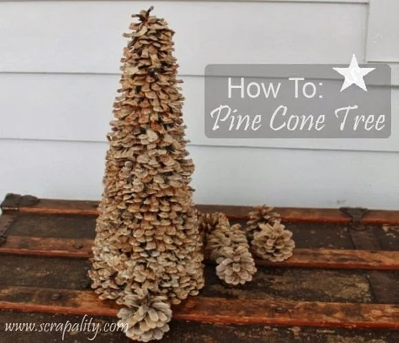 Pinecone Christmas trees