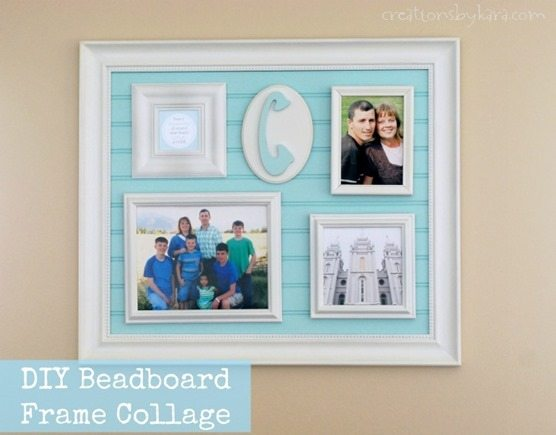 Using Bead Board for a Collage Frame