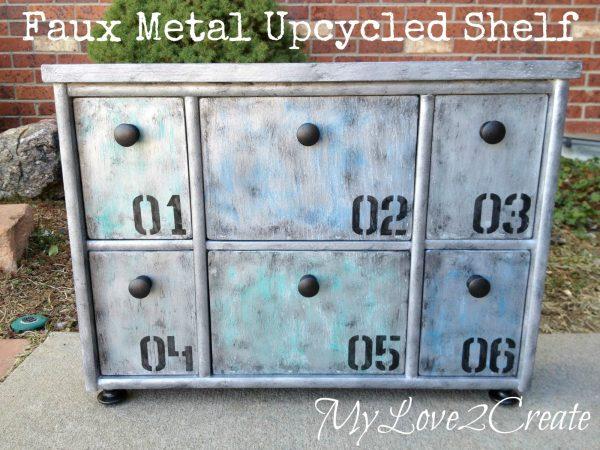 MyLove2Create, Faux Metal Upcycled Shelf