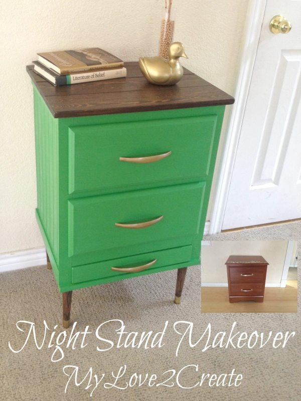 Night Stand Makeover after
