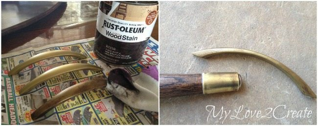 Adding Stain to gold handles