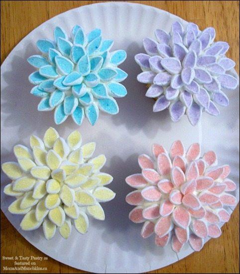 marshmallow-flower-cupcakes