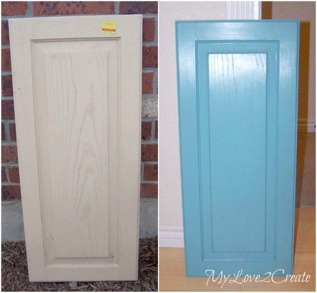 cupboard door, painted