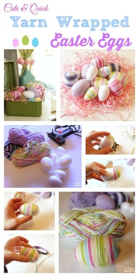 yarn-wrapped-Easter-eggs